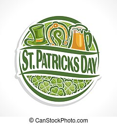 Vector abstract logo for St Patrick's Day
