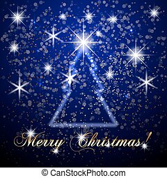 Vector abstract Merry Christmas or New Year blue background