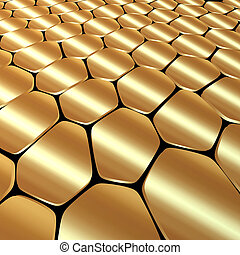 Vector abstract metal gold background with polygons
