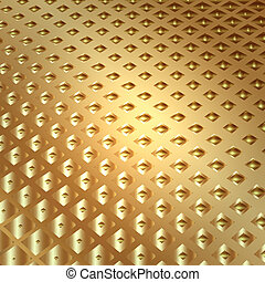 Vector abstract metal gold background with squares