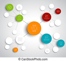 Vector abstract mind map template - Vector abstract mind map...