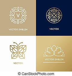 Vector abstract modern logo design templates in trendy ...