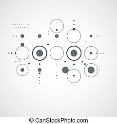 Vector abstract monochrome background created in Bauhaus retro style. Modern geometric composition can be used as templates and layouts.
