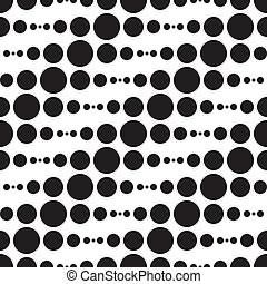 Monochrome Geometric Pattern - Vector Abstract Monochrome...