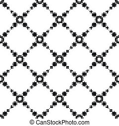Monochrome Halftone Pattern - Vector Abstract Monochrome...