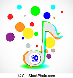 Vector abstract music background with place for your text. Eps 10