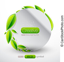 Vector abstract nature - Vector green conceptual...