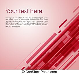 Vector abstract oblique rectangle background in red color