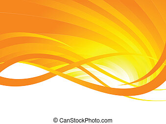 Abstract Background Rays Orange Colour Abstract Background