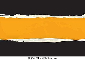 Vector Abstract Orange Torn Paper