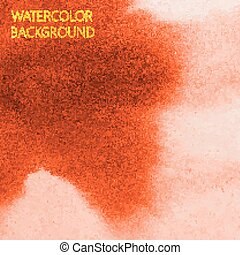 vector abstract orange watercolor background for your design