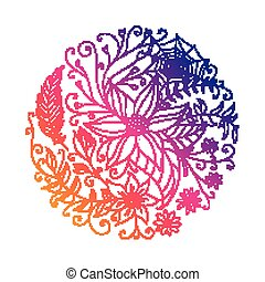 Vector Abstract Ornamental Circle
