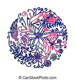 Vector Abstract Ornamental Circle