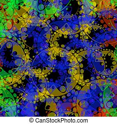 Vector abstract pastel pattern of gears and spheres in a blue design on a blue background for fabrics or festive attributes.