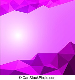 Vector abstract polygon background.