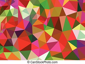 Vector abstract polygonal colorful background