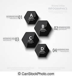 Vector abstract polygons background illustration, infographic template with place for your content