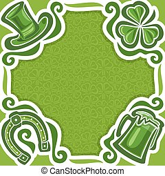 Vector abstract poster for St. Patrick's Day