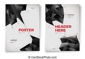 Vector abstract poster templates, white background