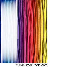 Abstract Rainbow Lines Background - Vector - Abstract...