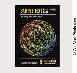 Vector abstract rainbow sphere brochure design templates