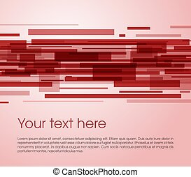 Vector abstract rectangle background in red color