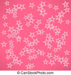 Vector abstract red background with white stars