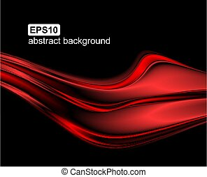 Vector abstract red wave background