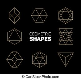 Vector abstract regular geometric shapes