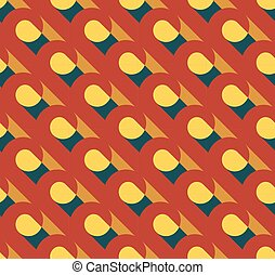 Vector abstract retro seamless pattern