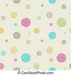 Vector Abstract retro  seamless with circle