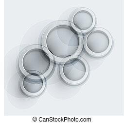 round modern elements for design