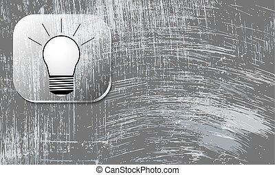 Vector abstract scratched background and bulb