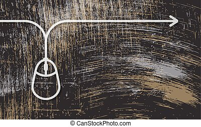 Vector abstract scratched background and mouse