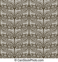 vector abstract seamless floral pattern