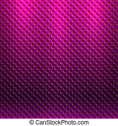 Vector abstract seamless purple metallic pattern with hexagon grille