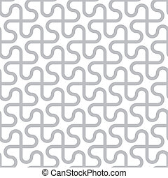 Vector abstract seamless pattern - curved gray lines on a white background