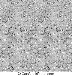Vector abstract seamless pattern with stars