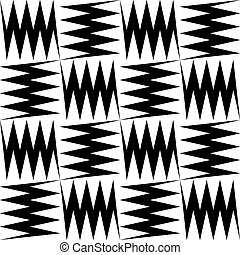 Seamless Zig Zag Pattern - Vector Abstract Seamless Zig Zag...