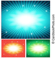 vector abstract set of colorful backgrounds