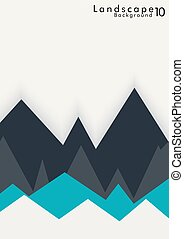 Vector Abstract Simple Landscape Background