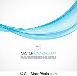 Abstract smoky waves background. Template brochure design - ...