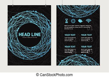 Vector abstract sphere brochure design templates