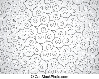 Vector abstract spirals background