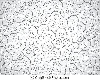 Vector abstract spirals background