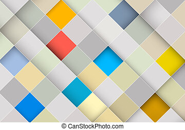 Vector Abstract Square Retro - Modern Background