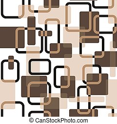 Vector abstract squares seamless vitage beige pattern