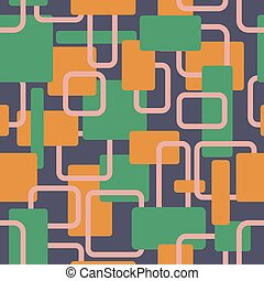 Vector abstract squares seamless vitage contrast pattern
