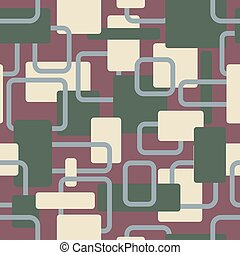Vector abstract squares seamless vitage cream pattern