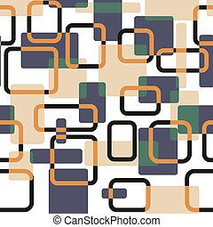 Vector abstract squares seamless vitage pattern